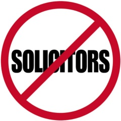 """No Solicitors"" Sign"
