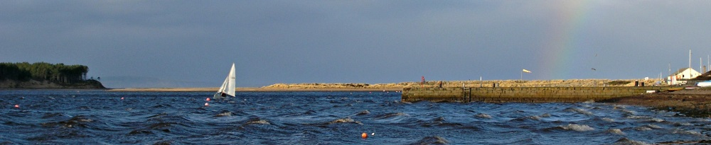 Findhorn Bay, Moray: hint of a rainbow