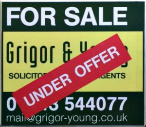 Grigor & Young For Sale Sign - Under Offer
