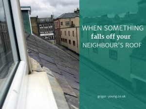 View across the roofs of Nos 1 to 7 North Street, Elgin, Moray