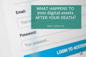 Email Login Screen - What happens to your digital assets after your death?