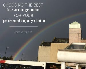 Rainbow over Elgin Bus Station, Moray