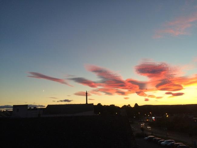 Ladyhill, Elgin, Moray, at sunset
