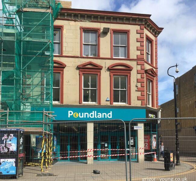 Closure of Poundland, Elgin, Moray - 10 May 2018