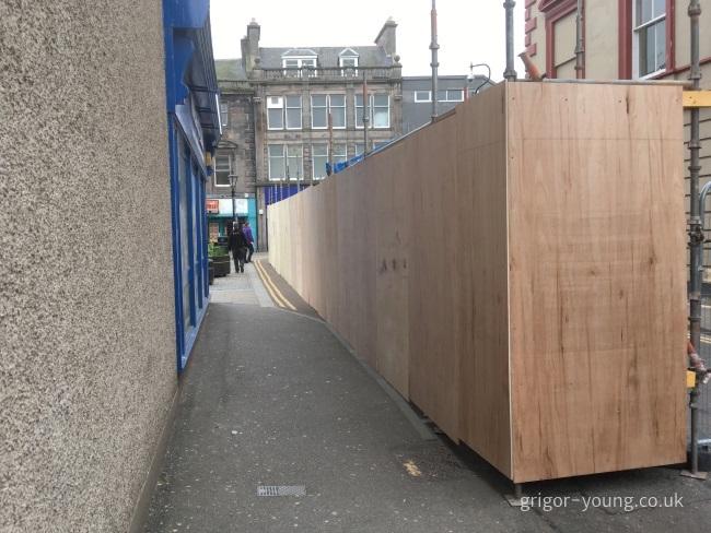 Remaining pedestrian access at North Street, Elgin - 11 May 2018