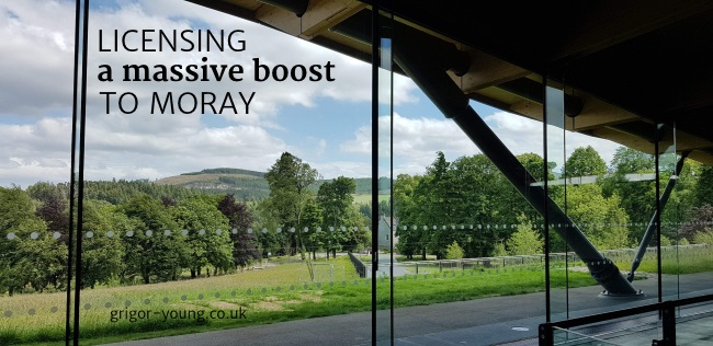A view from the new Macallan Distillery Visitor Centre, Easter Elchies, Moray