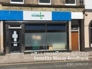 Moray Foodbank's premises, High Street, Elgin, Moray