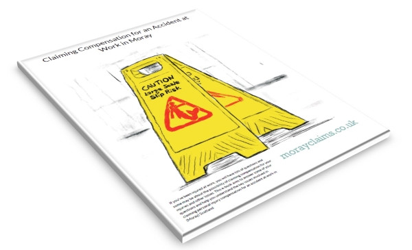 Cover of the Grigor & Young / Moray Claims eBook on Claiming for an Accident at Work in Moray