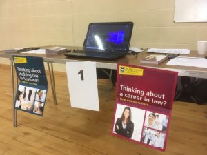 Moray Faculty of Solicitors' Stall at Elgin Academy Industry Awareness Day on 15 May 2019