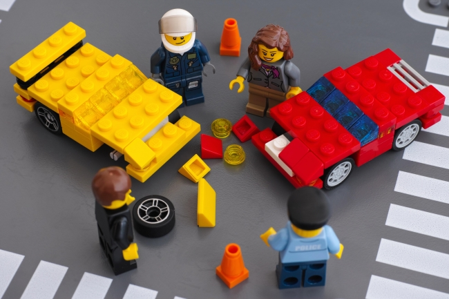 Lego Road Traffic Accident Scene