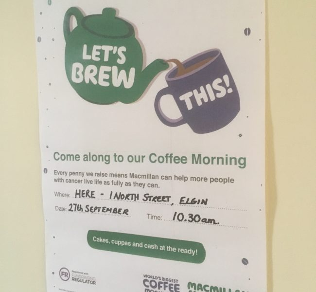 Macmillan Cancer Support - Coffee Morning