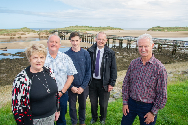 Peter with Donna Rab Huw and Alan - Board members of Lossiemouth Community Development Trust - September 2019